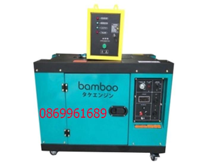 Máy phát điện BamBoo BmB 8800A chạy dầu 7kw có tủ ATS
