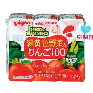 Vỉ 3 hộp nước ép Pigeon vị táo rau củ 13514 125ml x 3 thumbnail