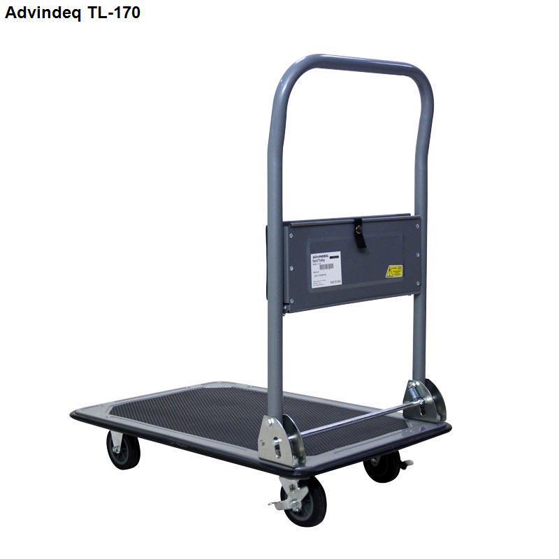 Xe đẩy hàng 4 bánh sàn thép Advindeq TL-170 (tải trọng 170kg)