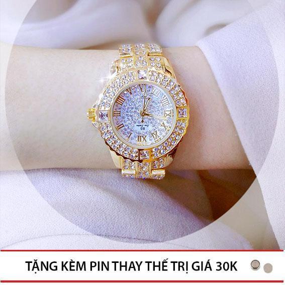 Đồng Hồ Thời Trang Nữ Bee Sister - Đồng Hồ Nữ Đính Đá - Đồng Hồ Dây Kim Loại - Đồng Hồ Thời Trang Chống Nước Tốt bán chạy