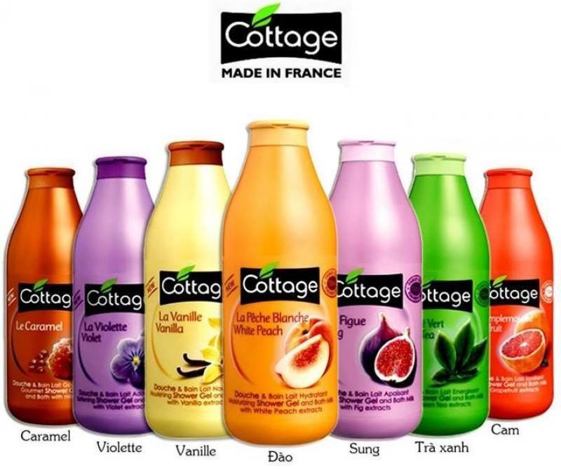 Sữa Tắm Dưỡng Trắng Da Cottage 750ml Của Pháp nhập khẩu