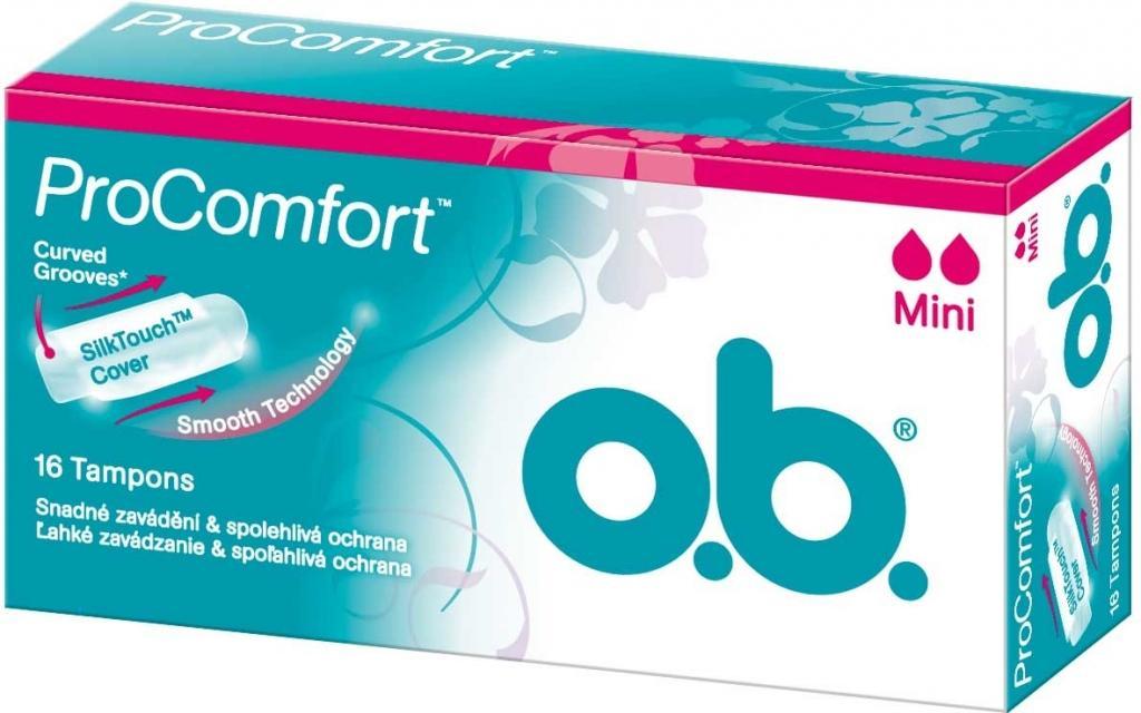 Hình ảnh Băng Vệ Sinh TAMPON cỡ mini O.B Red PROComfort ( 16 Miếng / hộp) - Nhập Khẩu Từ Czech