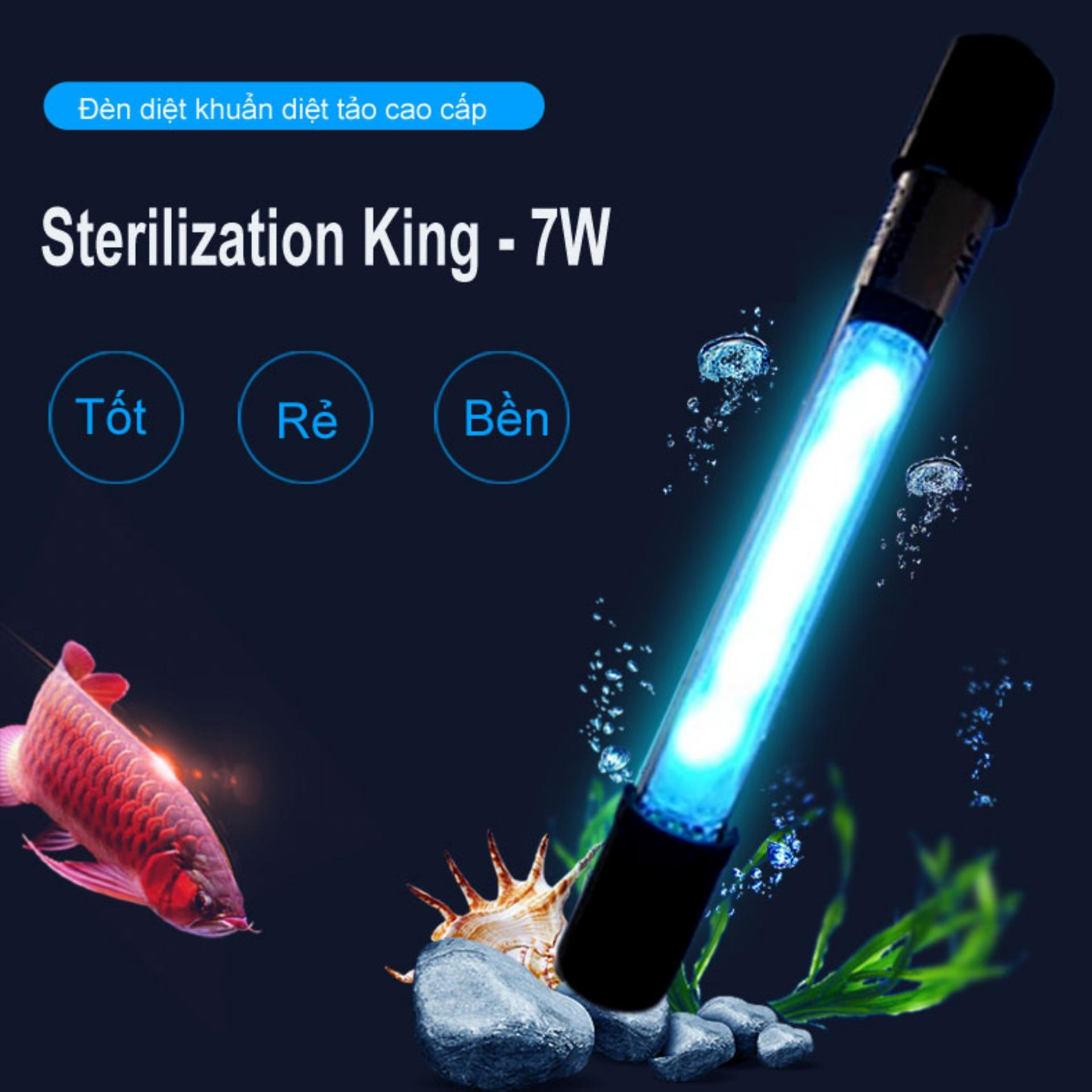 Lọc nước hồ cá - Đèn UV King Sterilization 7W diệt khuẩn diệt tảo cao cấp ( Trắng)