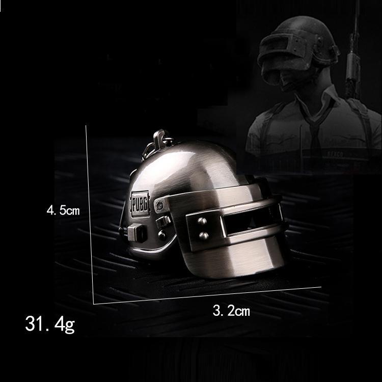 Móc khóa mô hình mũ 3 game PUBG (có thể đóng mở mũ)