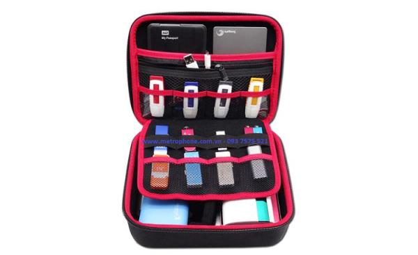 Giá Hộp cứng đựng đồ công nghệ phụ kiện điện thoại pin cáp sạc Guanhe HĐ-01 ( 20 cm x 15.2 cm x 7.5 cm )