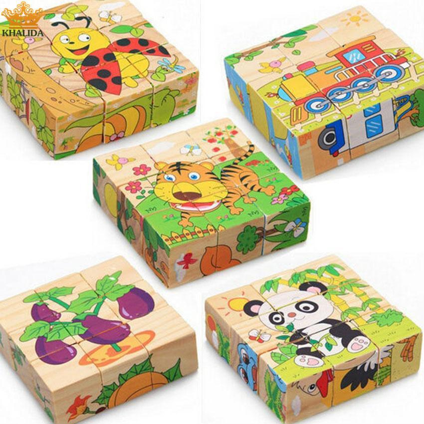 Bộ đồ chơi xếp hình gỗ cho bé (6 mặt) Nhật Bản