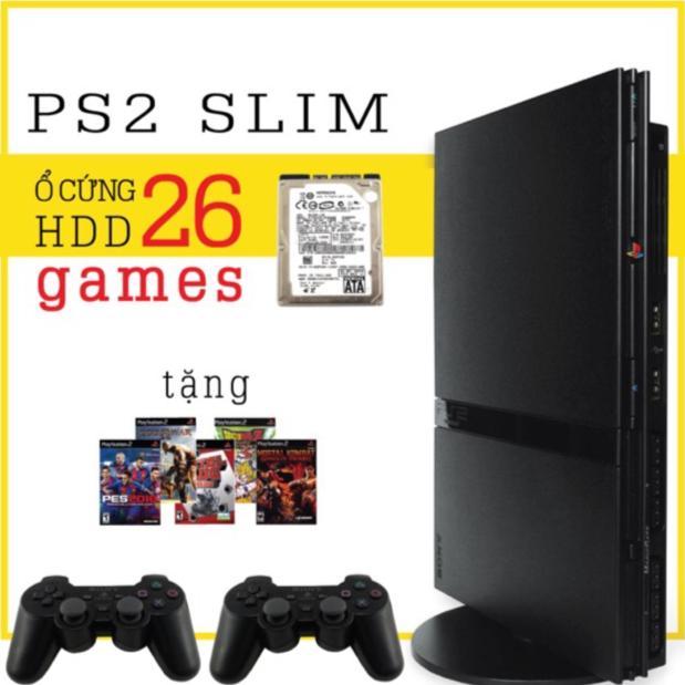 Hình ảnh Máy game PlayStation 2 - PS2 mỏng xài ổ cứng và đĩa (tặng 5 đĩa game có pes 2019, 1 save)