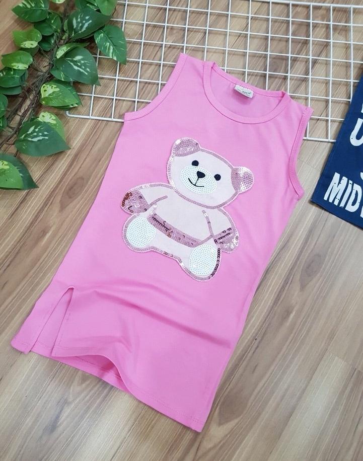 Giá bán Đầm body xẻ tà in hình gấu kim sa size đại