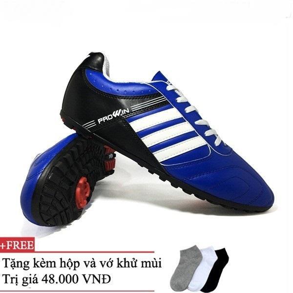Hình ảnh giày đá bóng trẻ em sân cỏ nhân tạo Prowin (xanh cô ban)