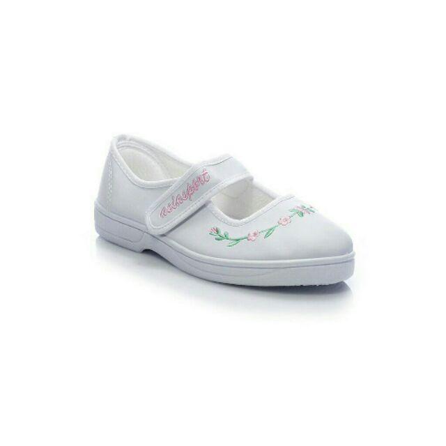 Giày trắng thể dục bé gái học sinh tiểu học