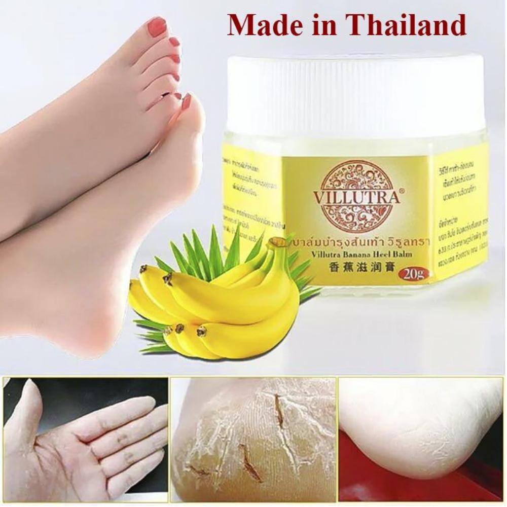 Kem Đặc Trị Nứt Gót Chân, Khô Da Hiệu Quả VILLUTRA Banana 20g Hàng Thái