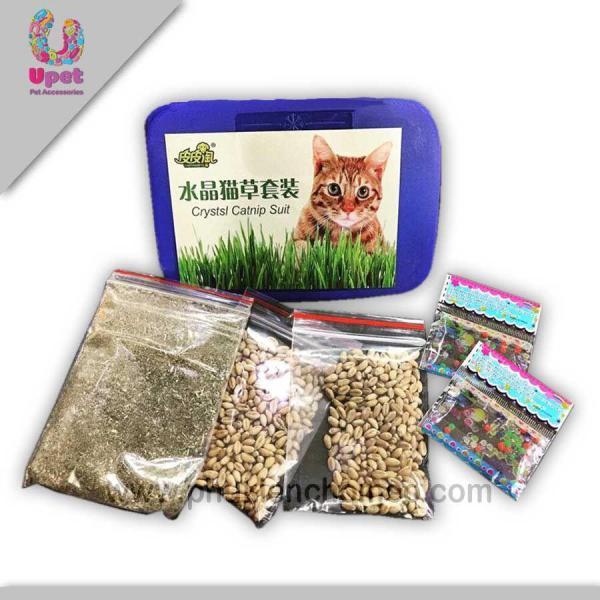 HN-SP1191 - Cỏ trồng cho mèo combo (hanpet 4711582) cobo hộp cỏ mèo