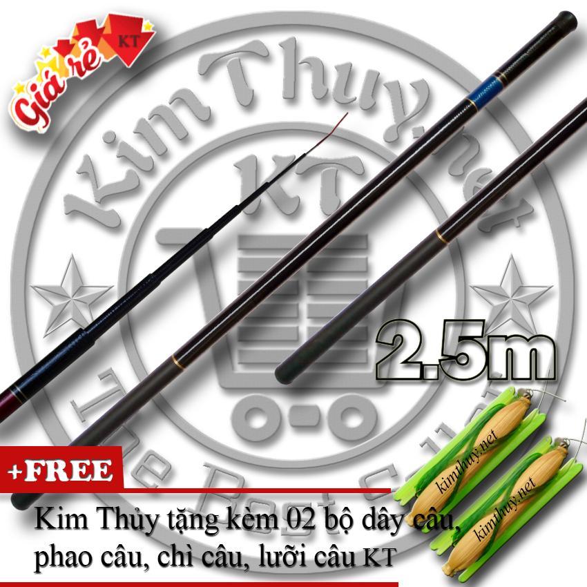 Cần Câu Tay Giá rẻ KT-CTGR-A 2.5m (*Kim Thủy) + Tặng kèm 2 bộ dây câu, phao câu, chì câu, lưỡi câu