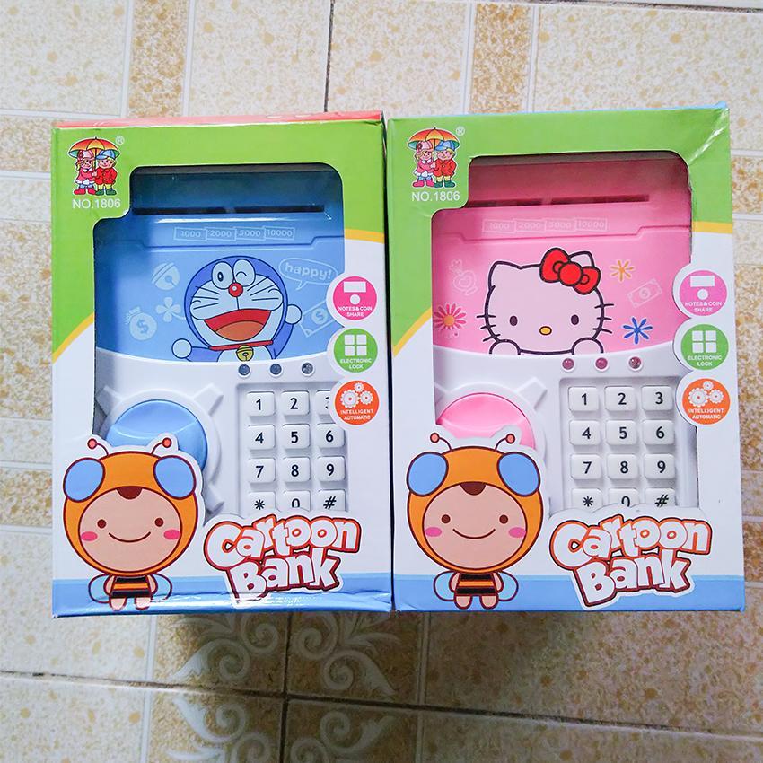 Két sắt mini đồ chơi thông minh Cartoon Bank – Dành cho bé 3 tuổi trở lên( 1 đổi 1 nếu hàng lỗi hỏng)