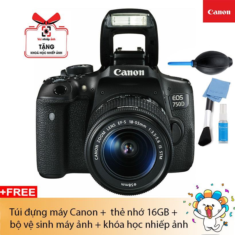 MÁy Ảnh Canon Eos 750d Kit Ef S18-55 Is Stm (lê Bảo Minh) By Ht-Digital.
