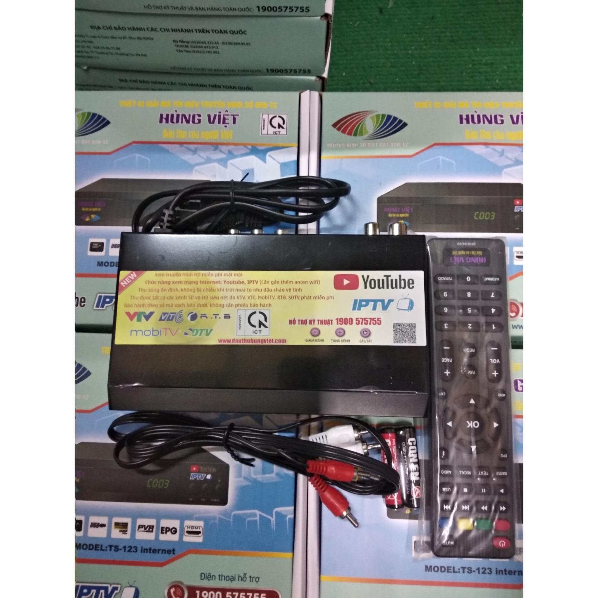 Đầu thu DVB-T2 model TS123 Internet
