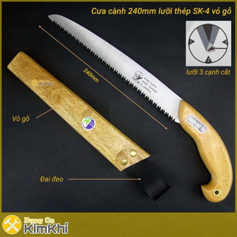 Cưa cắt cành cầm tay C0005 Buddy 240mm bao đen bằng gỗ lưỡi thép nhật SK4