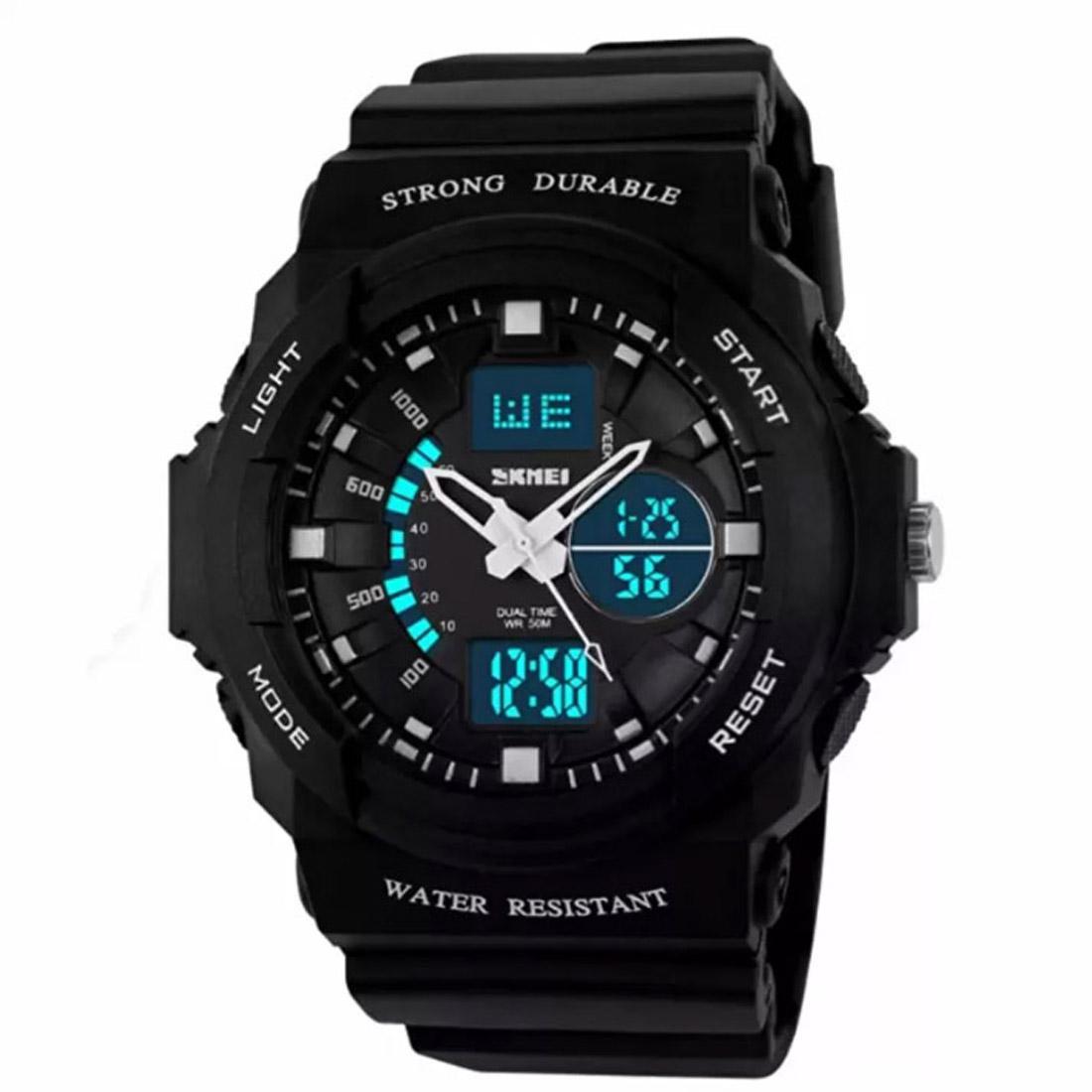 Nơi bán Đồng hồ thể thao chống nước nữ - đồng hồ điện tử nữ Skmei 0955 - trắng đen