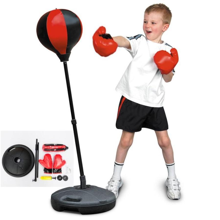 Hình ảnh Bộ Đồ Chơi Boxing tăng cường vận động cho trẻ (Đỏ đen)