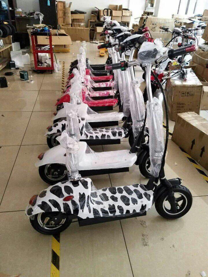 Xe đạp điện mini yên đôi E-Scooter 2018 - Xe điện mini giá rẻ