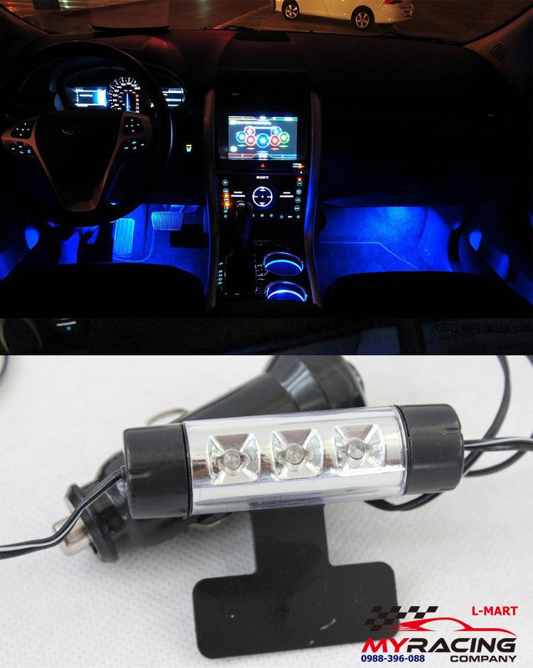 Đèn led 4 bóng trang trí gầm ghế cho ô tô, xe hơi cực sang trọng mẫu 1 ( Màu Xanh Dương)