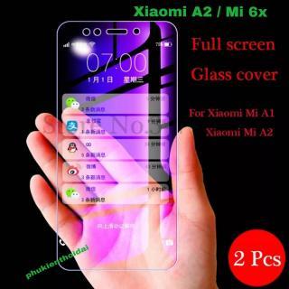 Cường lực Xiaomi A2 Mi 6x tím chống tia UV hại mắt tặng keo mép giấy lấy bụi ( không full màn ) thumbnail