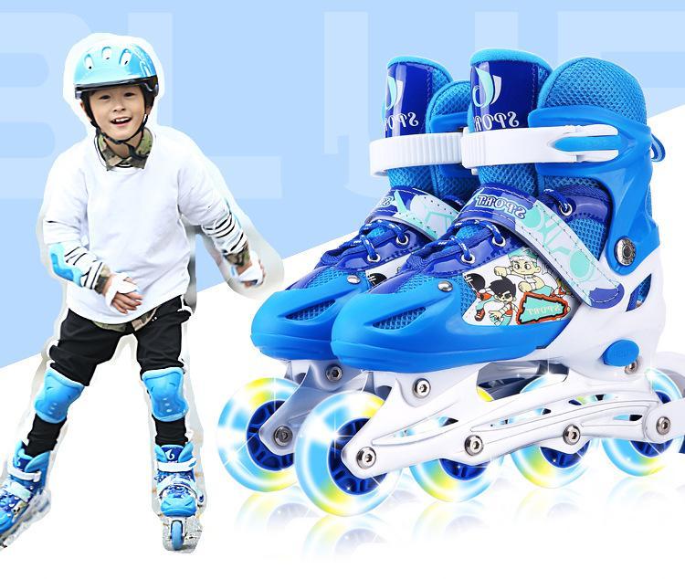 Mua Giày trượt Patin Sports có đèn flash, tặng kèm bảo hộ tay và đầu gối