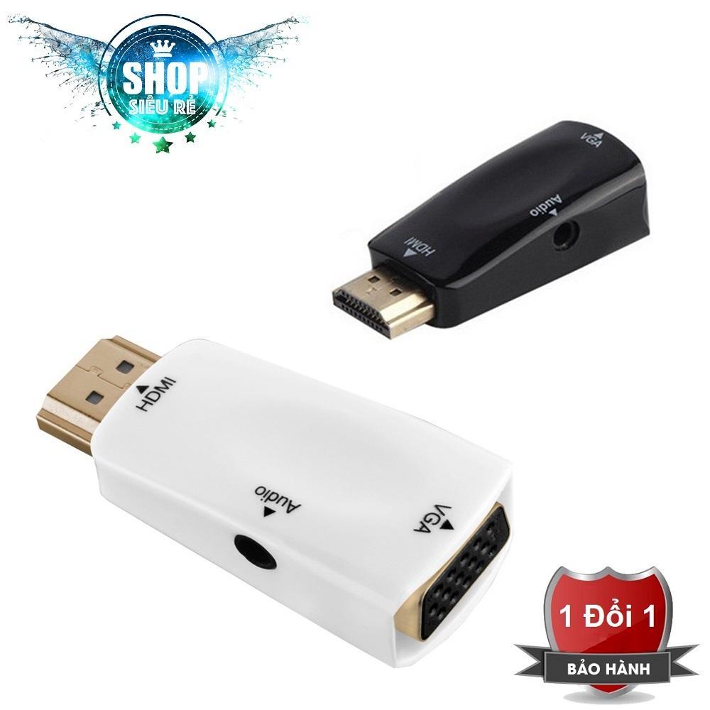 Đầu chuyển đổi HDMI sang VGA có âm thanh trắng