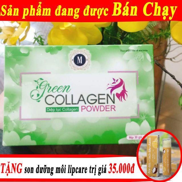 Hình ảnh Diệp lục Collagen – Bổ xung chất xơ, thải độc, đẹp da. Tặng son dưỡng Lipcare