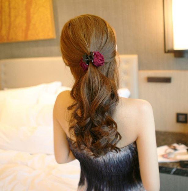 Combo 3 kẹp tóc hoa hồng siêu yêu