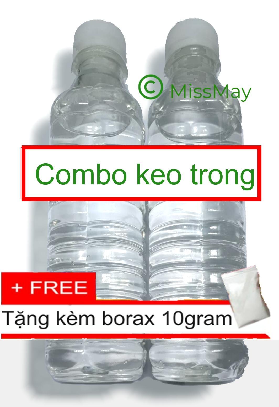 Mua Combo 2 chai keo trong 660ml (nguyên liệu slime trong)