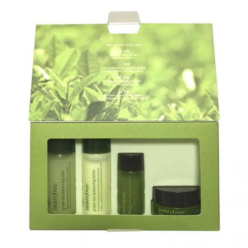 Kit dưỡng da trà xanh Green Tea Special Kit Ex [4 Items]