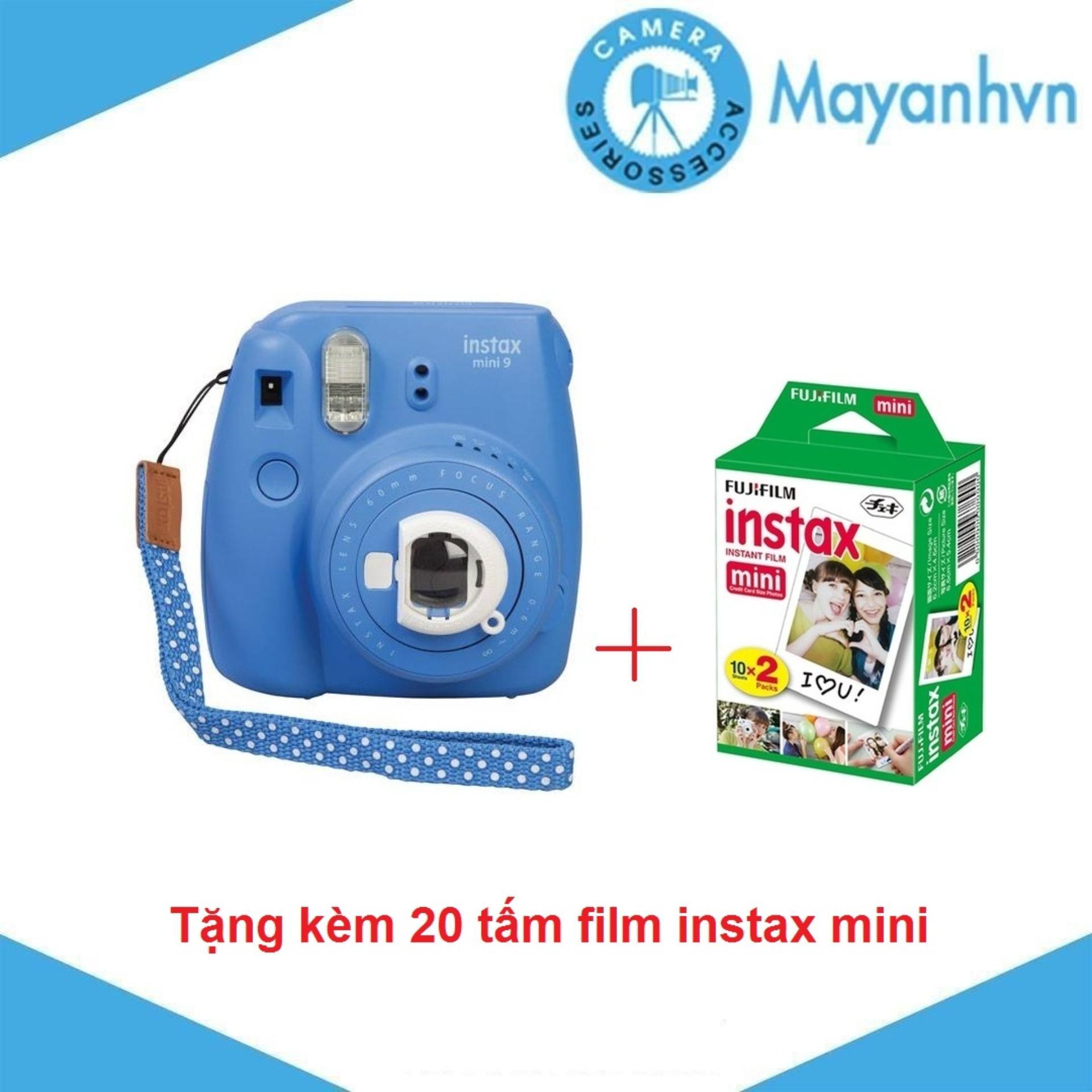 Lazada Ưu Đãi Khi Mua Máy Chụp ảnh Lấy Ngay Fujifilm Instax Mini 9  - Tặng Kèm 2 Hộp Giấy In FujiFilm 10 Tấm - Hãng Phân Phối Chính Thức.