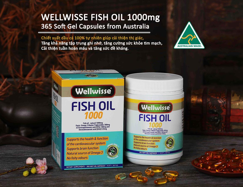 TPBVSK Dầu Cá 1000MG Wellwisse® Fish Oil 1000MG-365 viên
