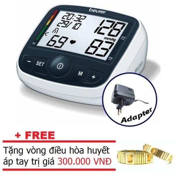Máy đo huyết áp bắp tay Beurer BM40 (kèm adapter) +Tặng vòng điều hòa huyết áp bán chạy