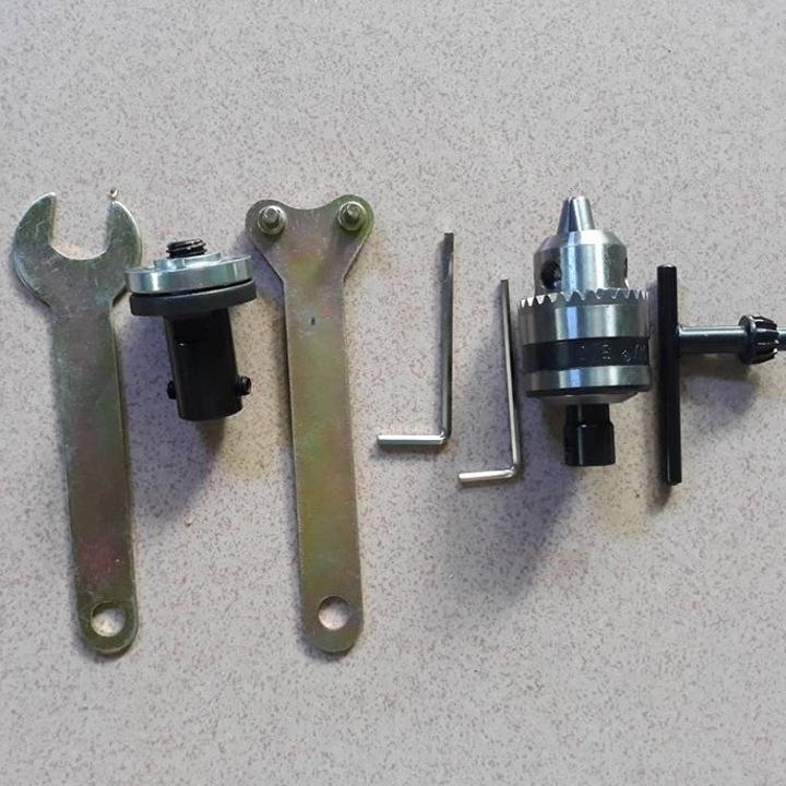 combo đầu giữ đĩa cưa và đầu kẹp khoan B10 cho motor 775