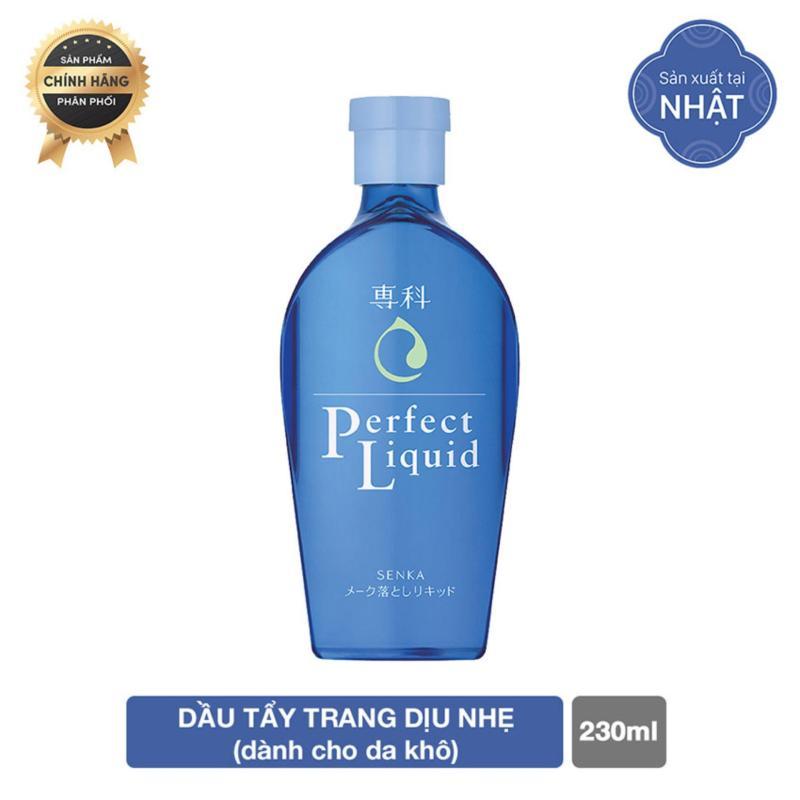 Dầu tẩy trang cho da nhạy cảm Senka Perfect Liquid 230ml