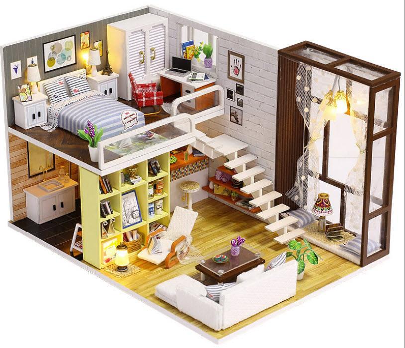 Hình ảnh Mô hình nhà gỗ DIY Biệt thự Thành Phố 1