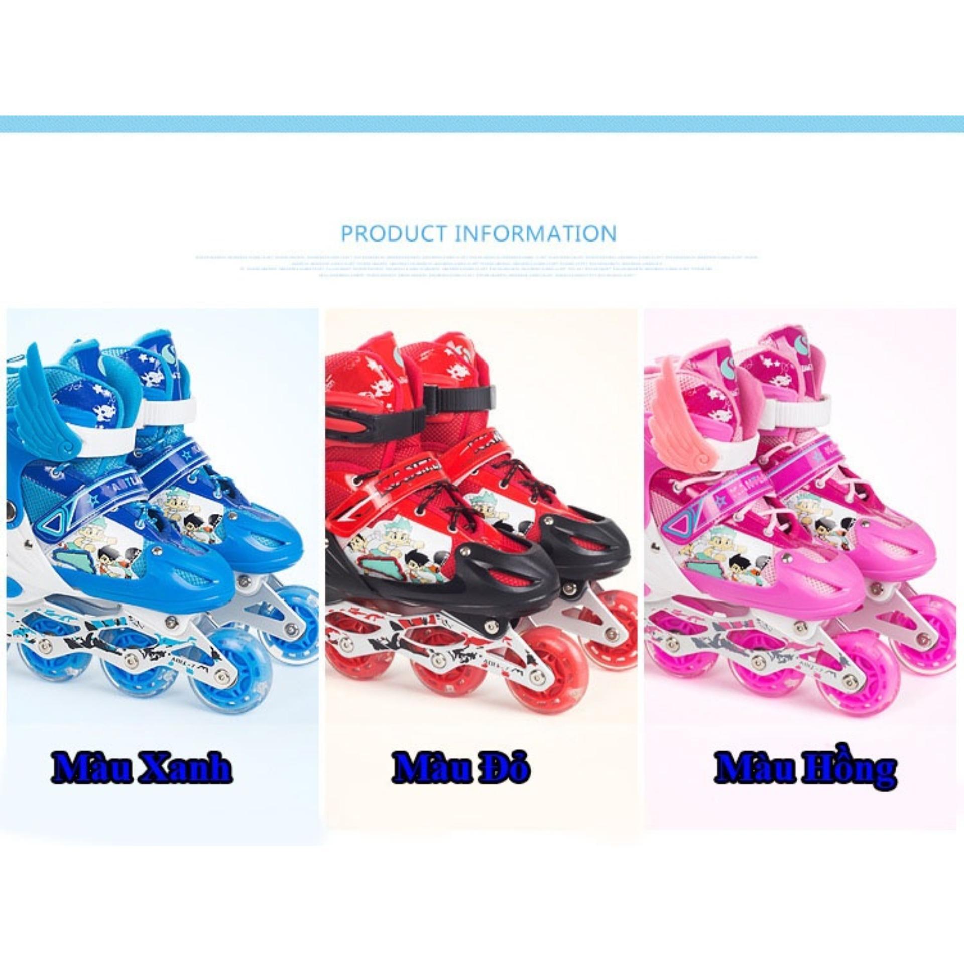 Giầy patin cho trẻ em,giày patin trẻ em tphcm - Giày Patin Trẻ Em, Chắc Chắn, Ôm Sát Chân Chân,  Giúp Bé Vui Chơi Thỏa Thích Mà Lại An Toàn, Sản Phẩm Cao Cấp -Tặng Kèm Bộ Bảo Hộ Đáng Yêu  - Mẫu Mới 2046
