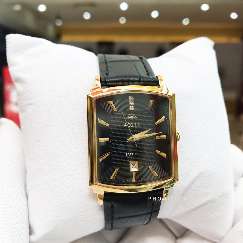 Đồng hồ Nam Aolix AL9099G Black Full hộp , Thẻ bảo hành hãng , Kính Sapphire chống xước chống nước bán chạy