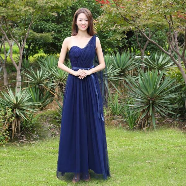 Lễ Phục Phù Dâu Trang Phục Phù Dâu Nhóm Chị Em Phong Cách Hàn Quốc Mẫu Thu Đông 2020 Cho Nữ Váy Liền Trễ Vai Tôn Dáng Màu Xám Dáng Dài