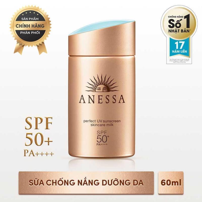 [HOT] Sữa chống nắng bảo vệ hoàn hảo Anessa Perfect UV Sunscreen Skincare Milk - SPF 50+, PA++++ - 60ml nhập khẩu