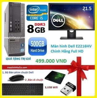 Bộ máy tính để bàn đồng bộ Dell optiplex 390 ( Core i5 8G 500G ) , Màn hình Dell 21.5 Full HD - Wide - Led , Tặng Bàn phím chuột Dell , USB wifi , bàn di chuột - Hàng Nhập Khẩu thumbnail