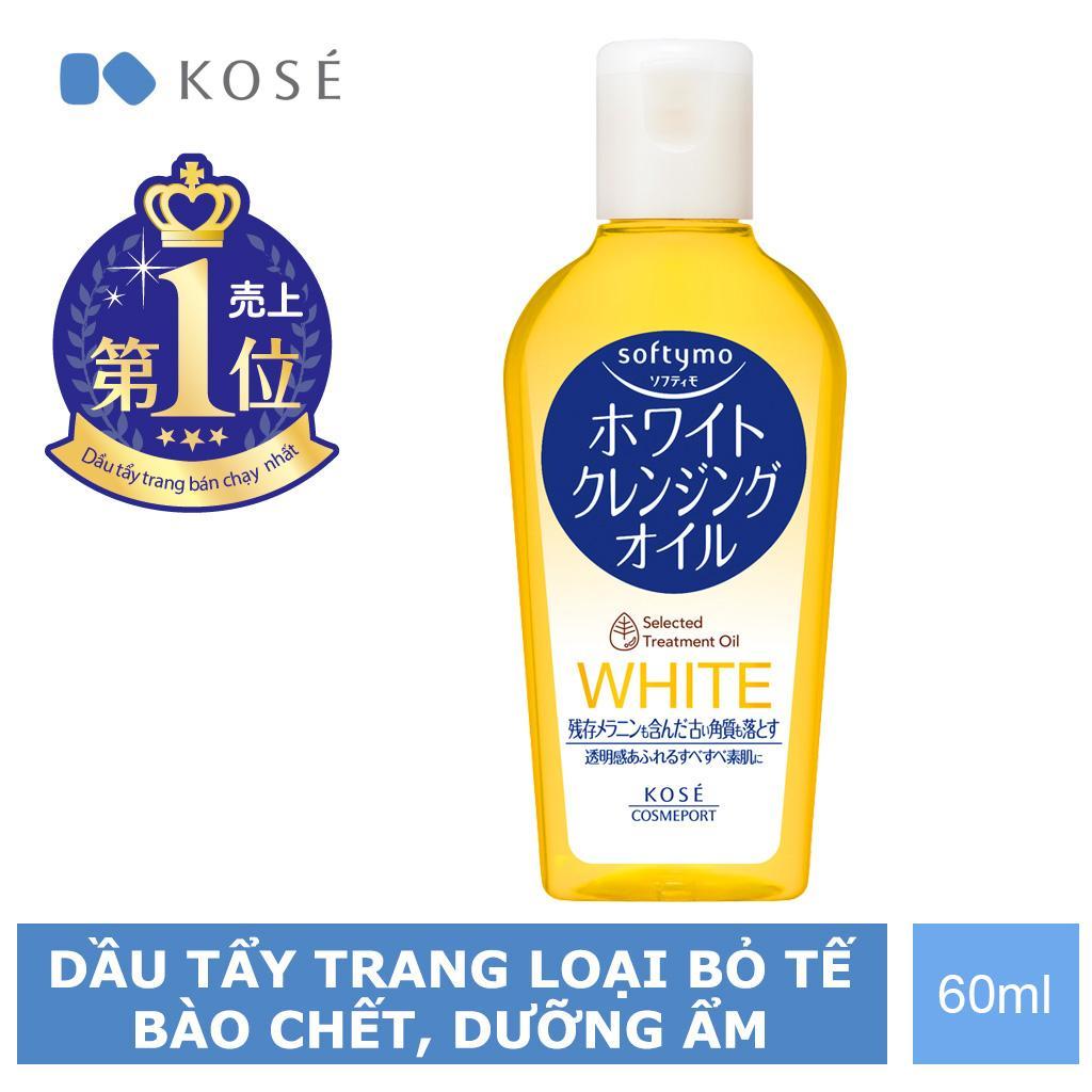Dầu Tẩy Trang Tẩy Tế Bào Chết Kosé Cosmeport Softymo White Cleansing Oil 60ml