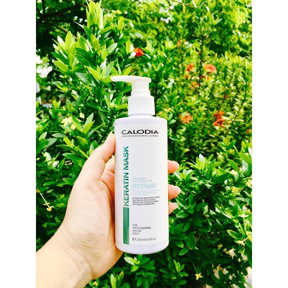 Kem xả khô siêu dưỡng phục hồi tóc hư tổn Calodia Keratin Mask 250m nhập khẩu