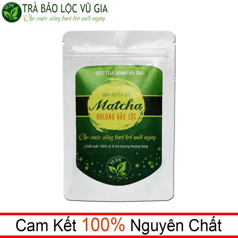 Matcha Oolong Nguyên Chất Bảo Lộc Vũ Gia ( 100g/ túi) - pha trà sữa, làm bánh, gia vị món ăn thanh nhiệt cơ thể và giảm cân an toán nhập khẩu