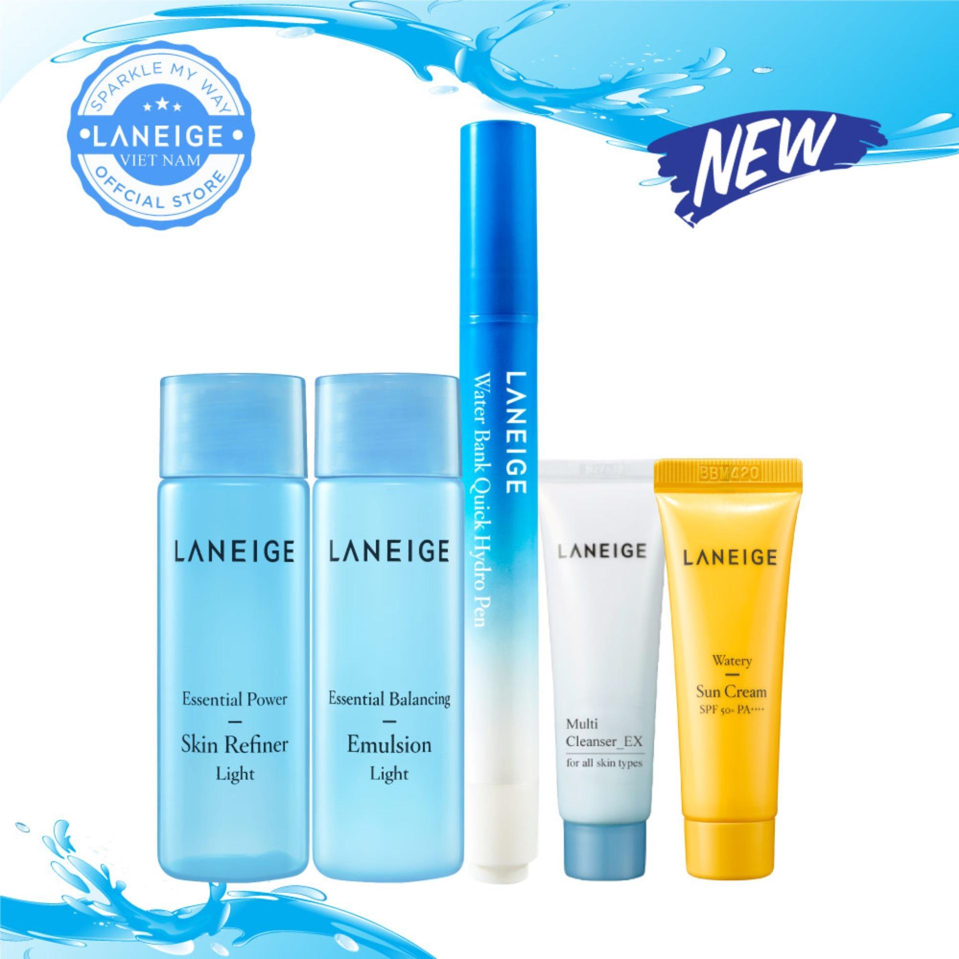 Combo dưỡng ẩm tối ưu và tiện lợi Laneige Water Bank Quick Hydro Pen