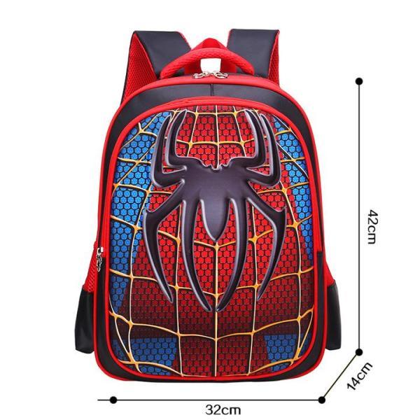 Balo học sinh từ lớp 1 - 3 siêu nhẹ in hình 3D Tổng hợp Nhân vật anh hùng (42 x 32 x 14 cm)