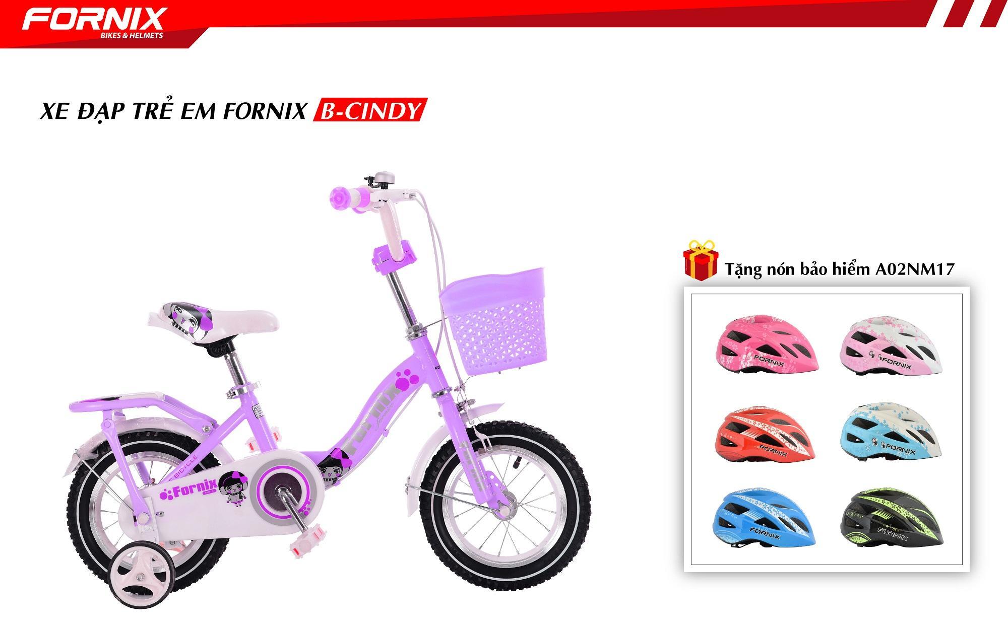 Xe đạp thể thao trẻ em B-CINDY 12 inch + Tặng nón bảo hiểm trẻ em A02NM17Xs