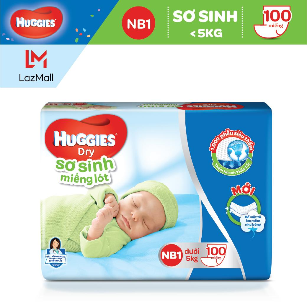 Miếng lót Sơ Sinh Huggies NB1 100 miếng - NB 1 100 (gói 100 miếng)